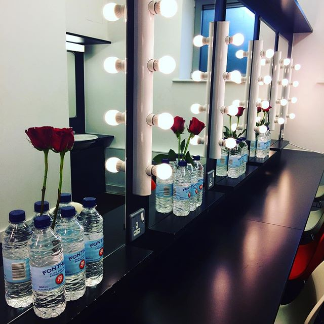 Roses in the casts dressing rooms - I'm just the cutest Assistant Stage Manager on this planet! 🌹👌