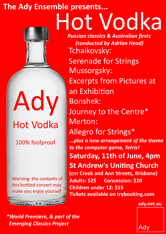 Hot Vodka, Russian Classics and Australian Firsts with the Ady Ensemble