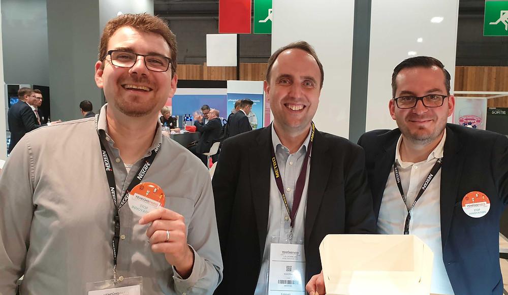 Nos 3 Directeurs, de gauche à droite, Rémi Blanc, Nicola Spada et Thomas Gillet