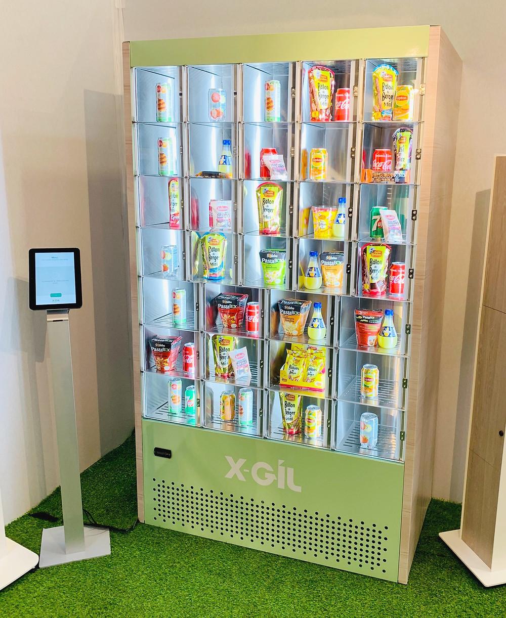 Distributeur automatique à casiers EASYBOX présenté sur le stand X-GIL