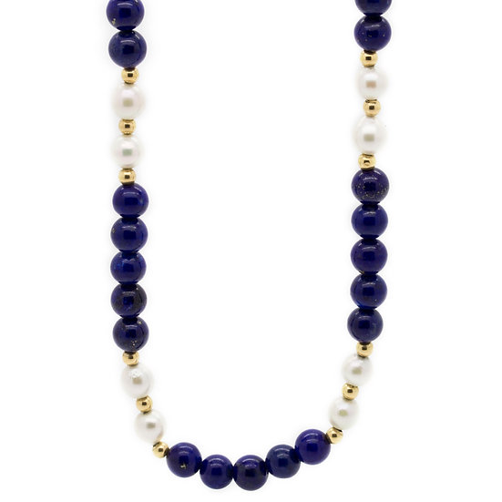 Lapis & Pearl Necklace