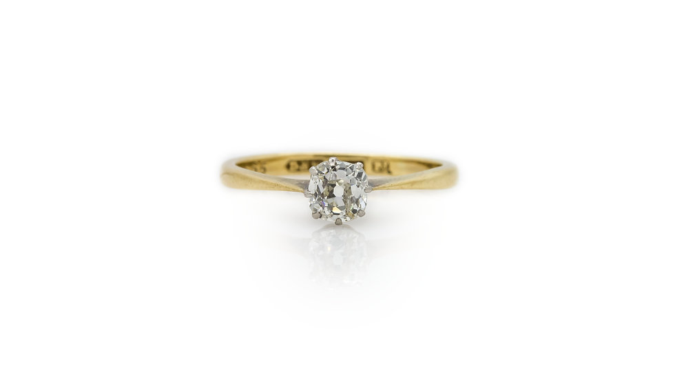 Solitaire Old European Cut Diamond Ring
