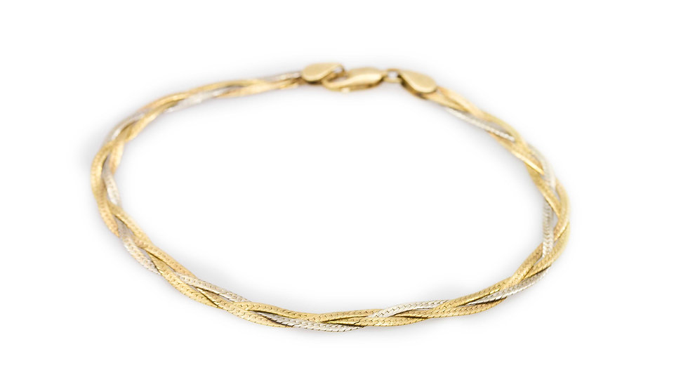 Two Tone Gold Bracelet