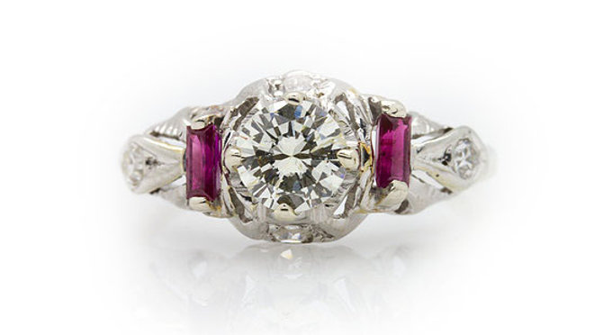 Diamond and Ruby Ring view 1
