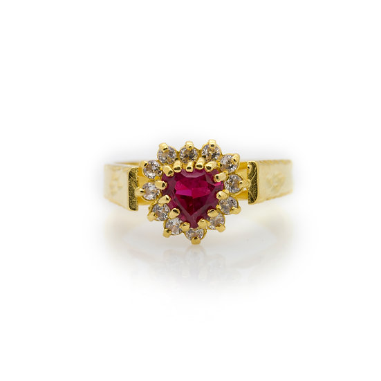 Heart Ruby 22 Carat Ring view 1