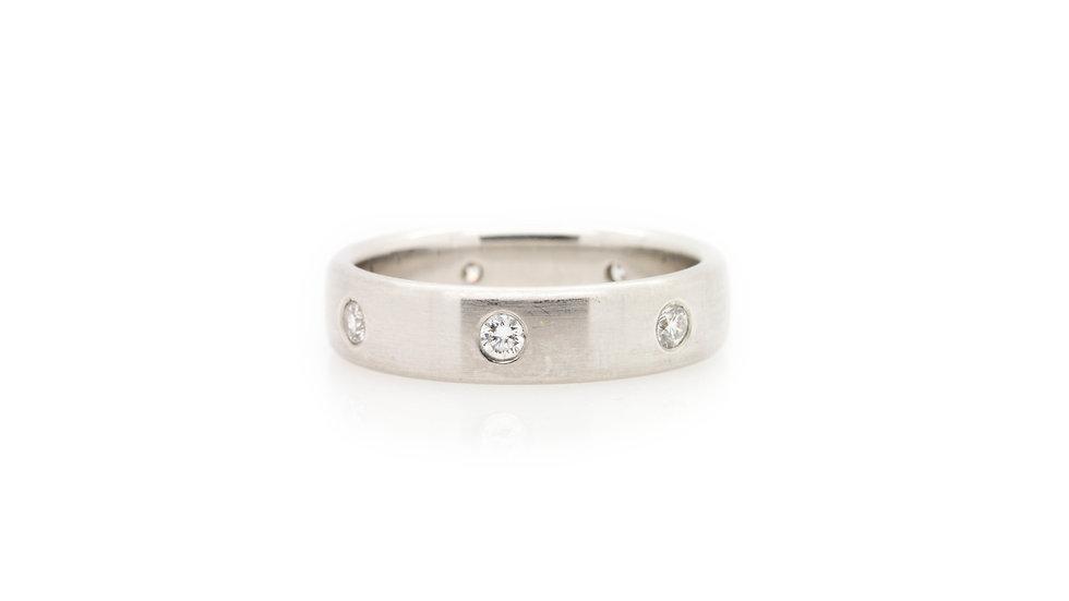 0.40ct  Platinum Diamond Band Ring