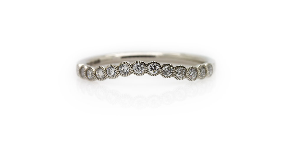 Raphael Collection Diamond Half Eternity Ring