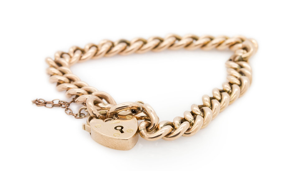 Gold Locket Bracelet