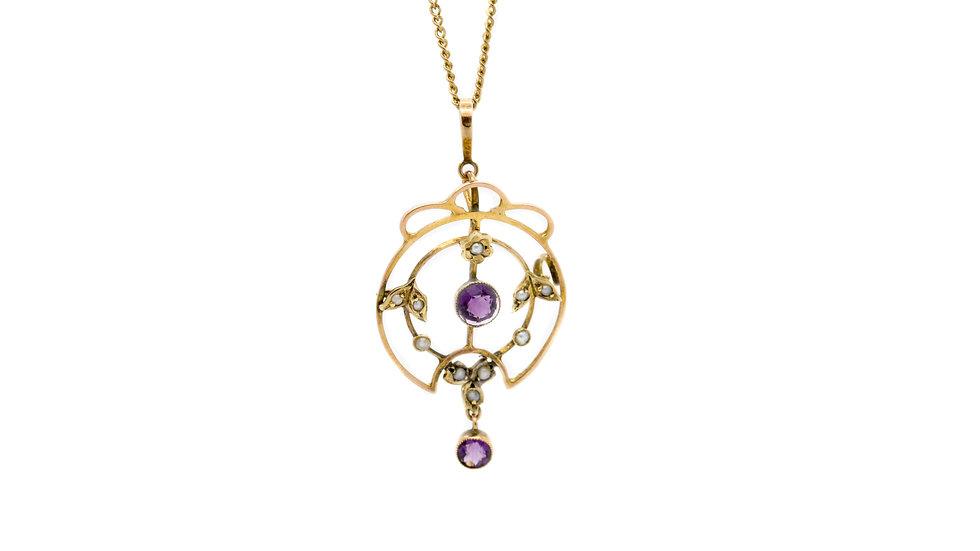 Amethyst & Pearl Necklace