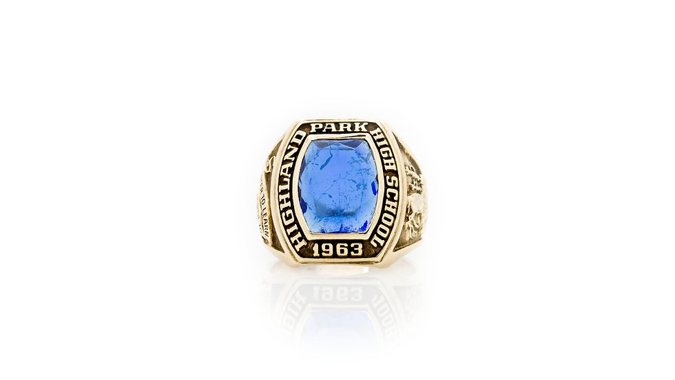Highland Park High School Signet Ring front view