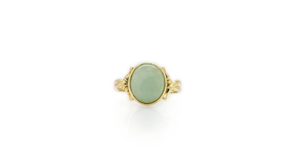 Jade Yellow Gold Ring view 1