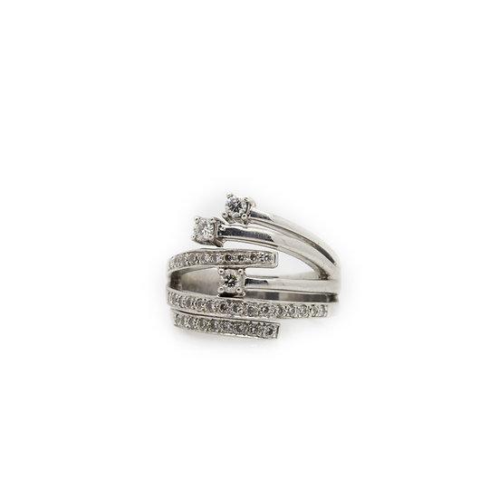 Modern Art deco Diamond Ring view 1