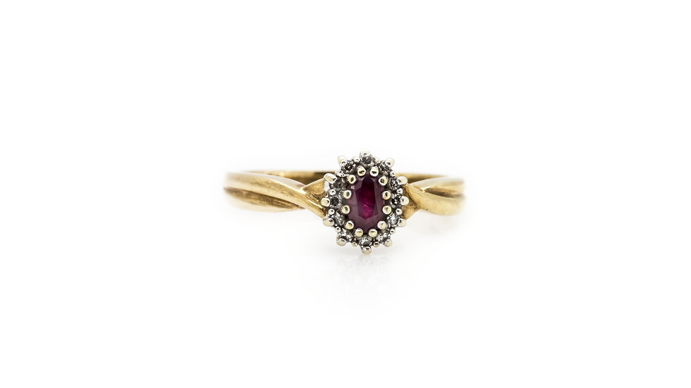 Ruby Ring Yellow Gold view 1