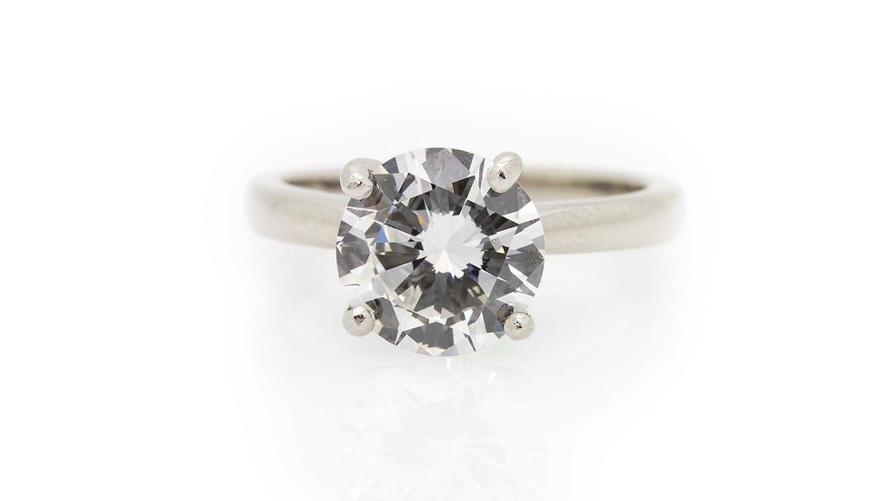 2.58ct Diamond Solitaire Ring view 1