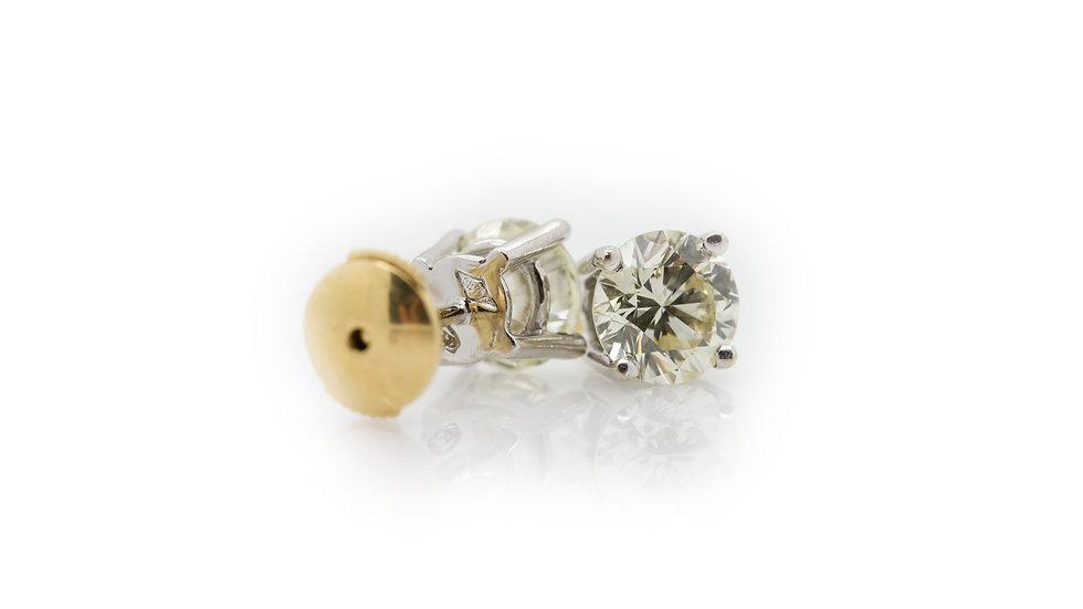 3ct Diamond Stud Earrings view 1