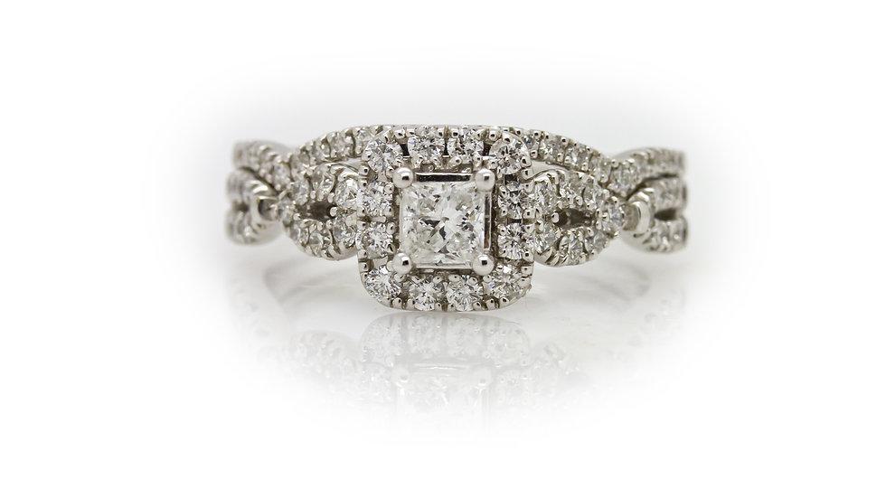 Princess Diamond Ring Wedding Set