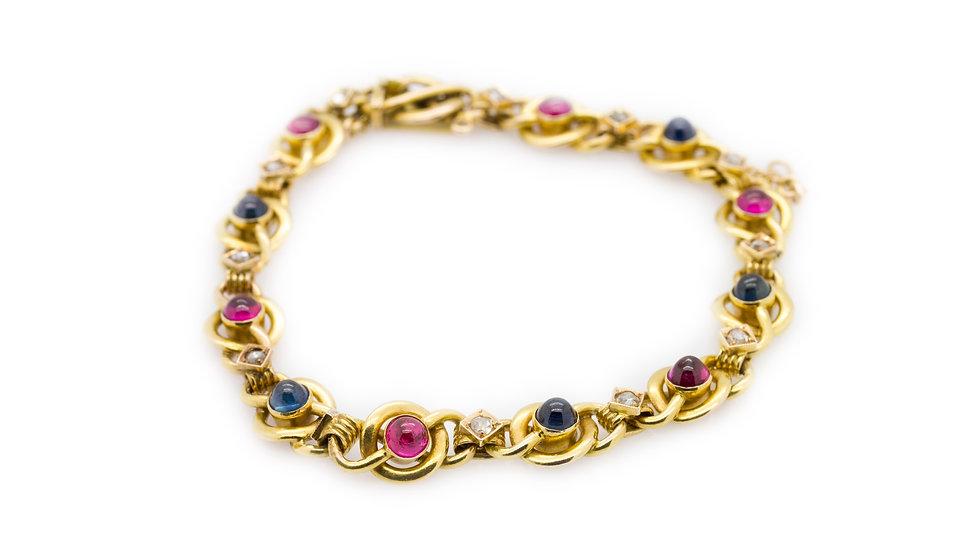 Ruby Sapphire & Diamond Bracelet view 1