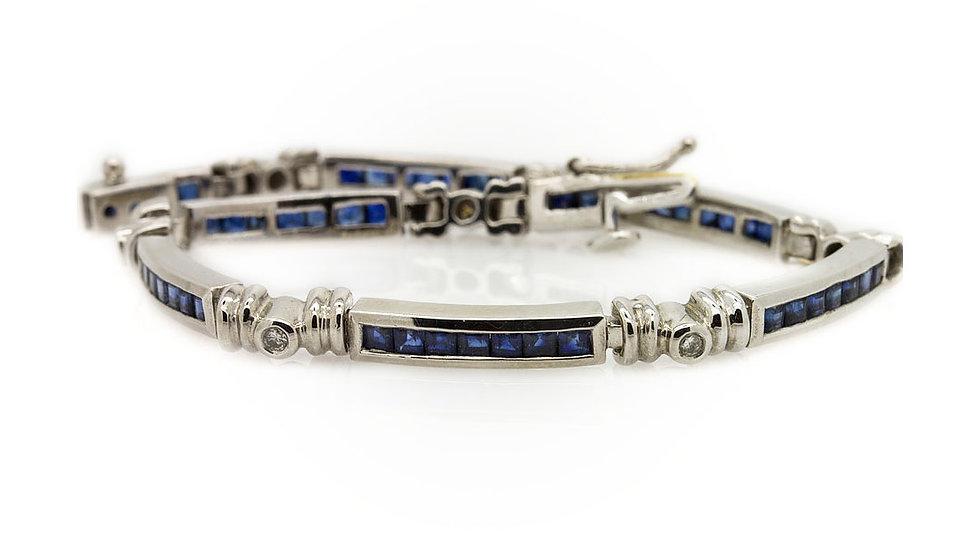 Platinum Sapphire Bracelet Mulroy Antiques View 1