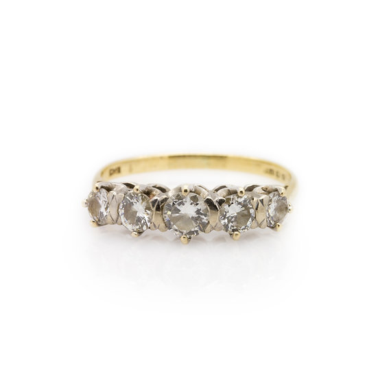 Yellow Gold Eternity Ring from view