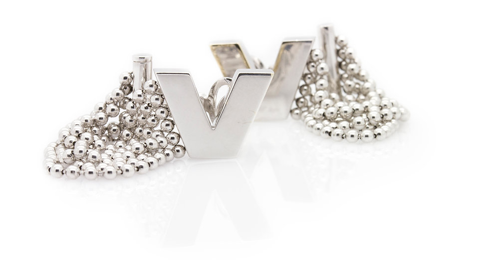 Versace White Gold Earrings