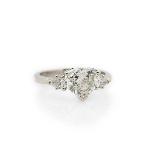 1.70ct Heart Diamond Ring view 1