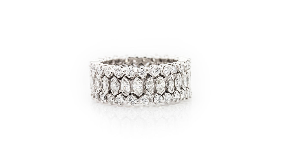 Marquise Diamond Eternity Ring view 1