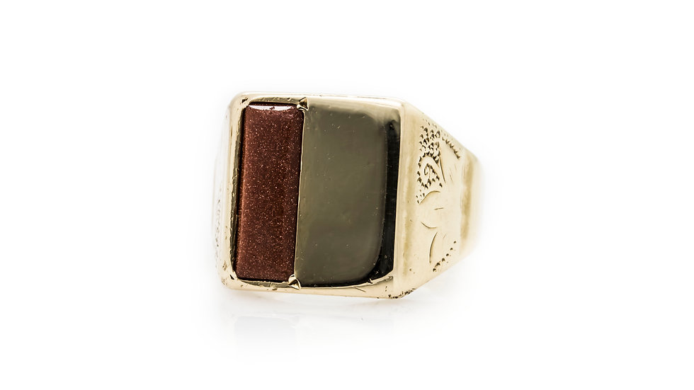 Gents Gold Stone Ring