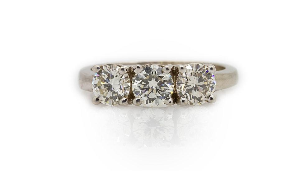 1.50ct Diamond Trilogy Ring Mulroy and Grosvenor Jewellers View 3
