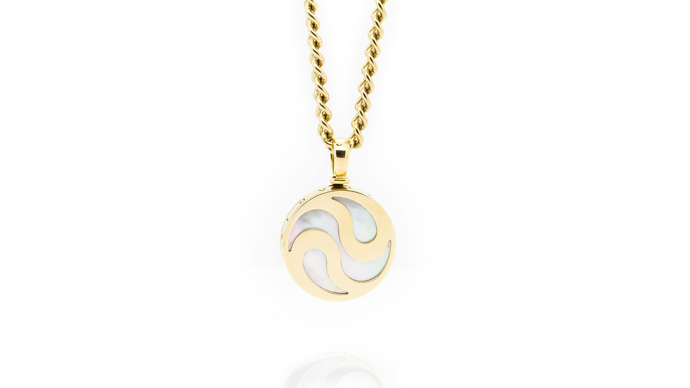 Bulgari Spinning mother of Pearl pendant view 1