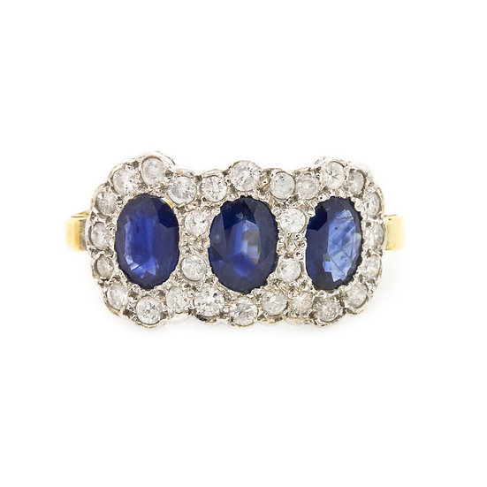 Art Deco Style Trilogy Ring