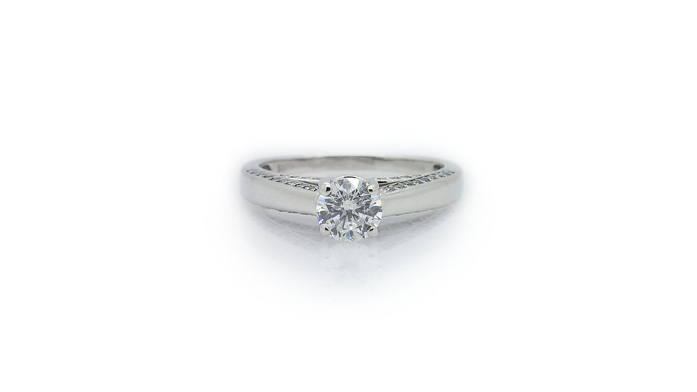 14ct white gold 1.00ct diamond solitaire ring