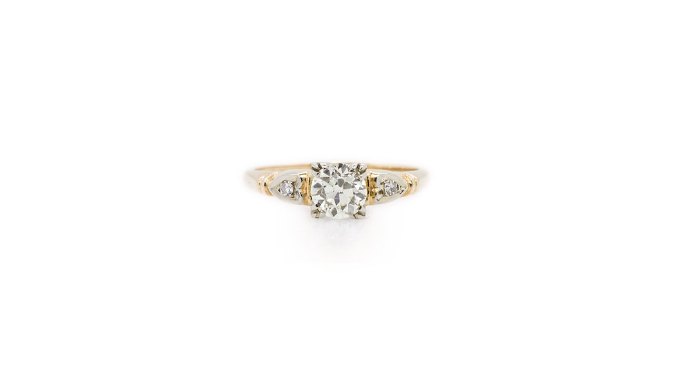 Diamond Solitaire 0.65ct 18ct Yellow Gold view 1