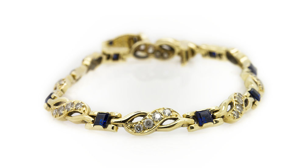 Sapphire & Diamond Bracelet view 1