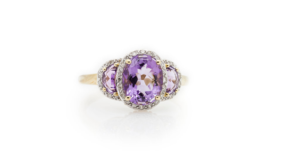 Trilogy Amethyst Ring view 1