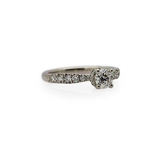 Raphael Platinum Four Claw Diamond Engagement Ring