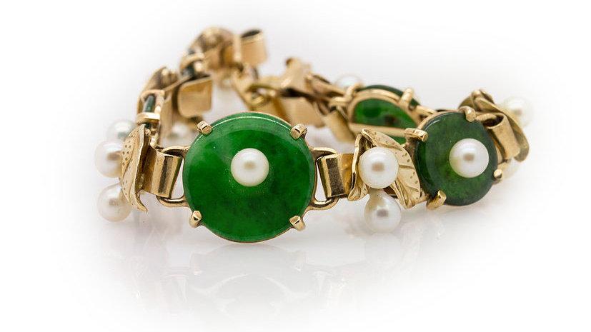 Jade & Pearl Bracelet