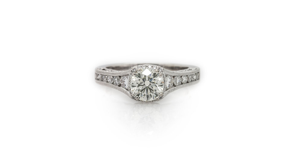 Solitaire Halo Diamond Ring
