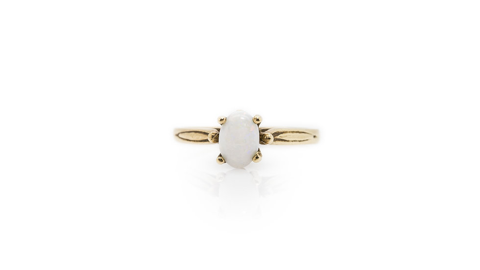 Opal Solitaire Ring view 1