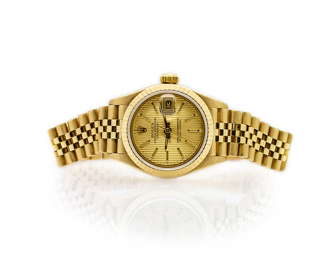 Rolex Oyster Perpetual 18ct Gold view 1