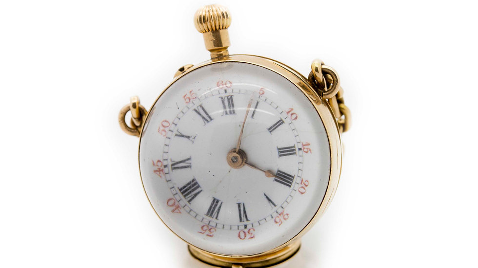 Crystal Pocket Watch front view