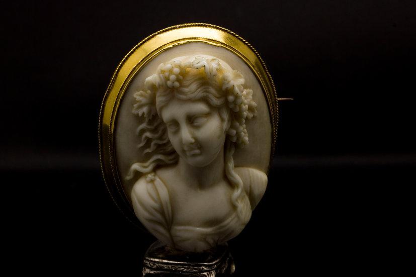 1840'S Ivory Brooch