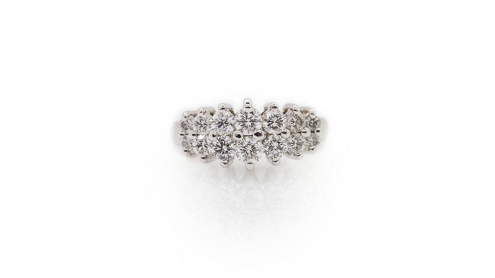 14ct white gold diamond ring 1.12ct of round cut diamonds