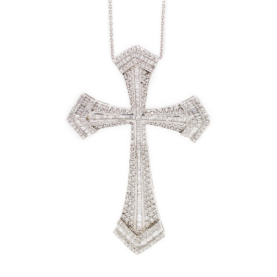 6.20ct Large Diamond Cross