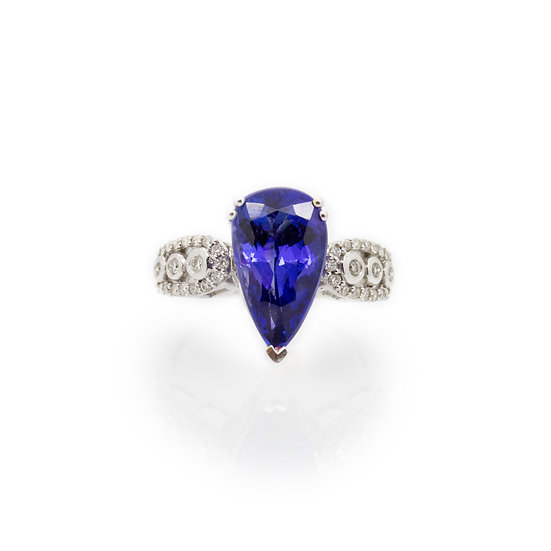 Pear Cut Tanzanite Ring