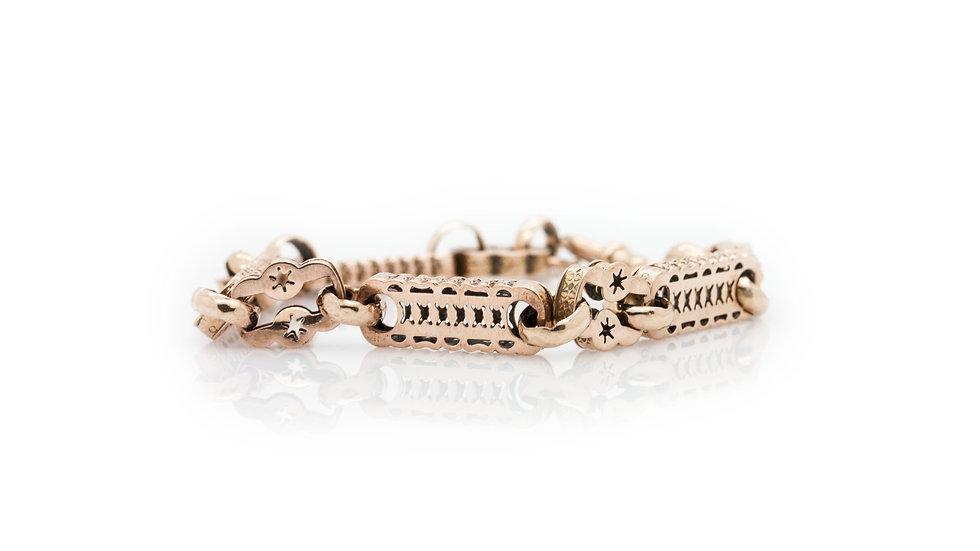 Rose Gold Antique Star Bracelet
