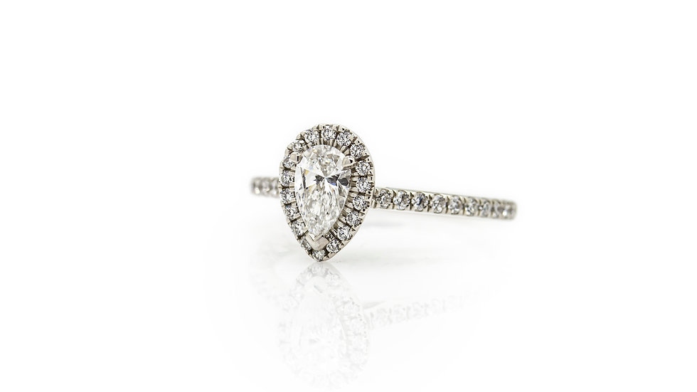 Pear Cut Diamond Solitaire Ring view 1
