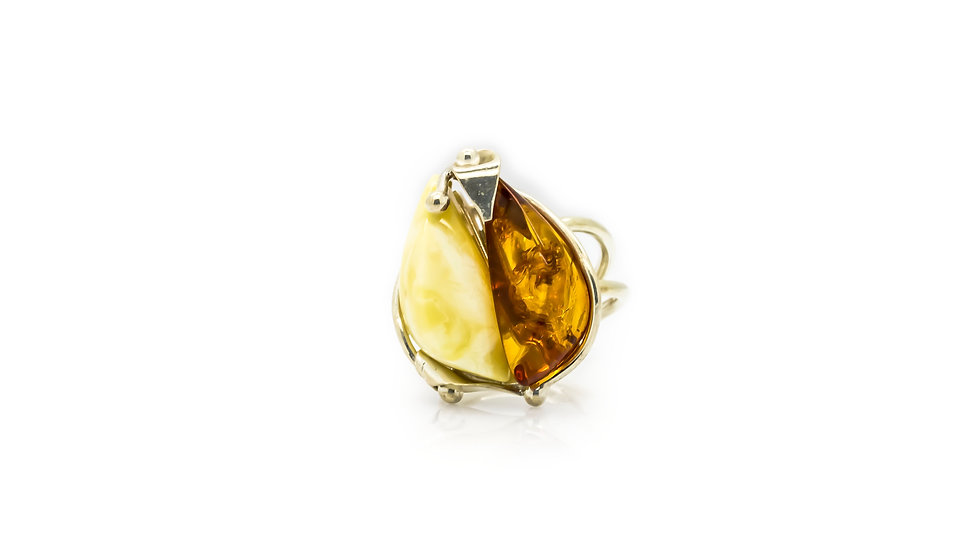 Amber Cocktail Ring