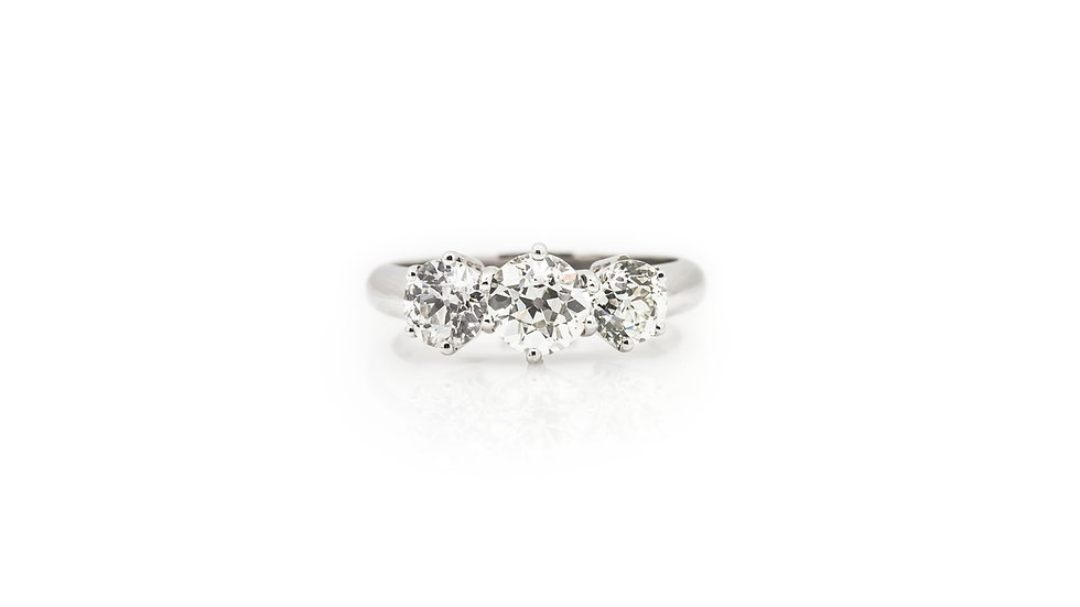 1.75ct Diamond Trilogy ring view 1 front