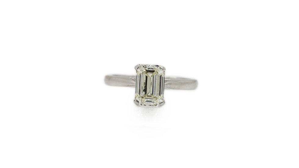 1.50ct Baguette Diamond Solitaire Ring view 1