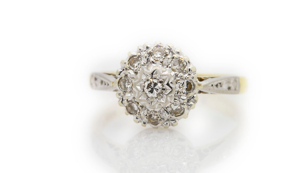 Flower Diamond Ring front view